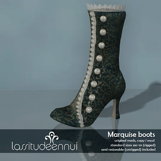 lassitude & ennui Marquise boots for We love RP