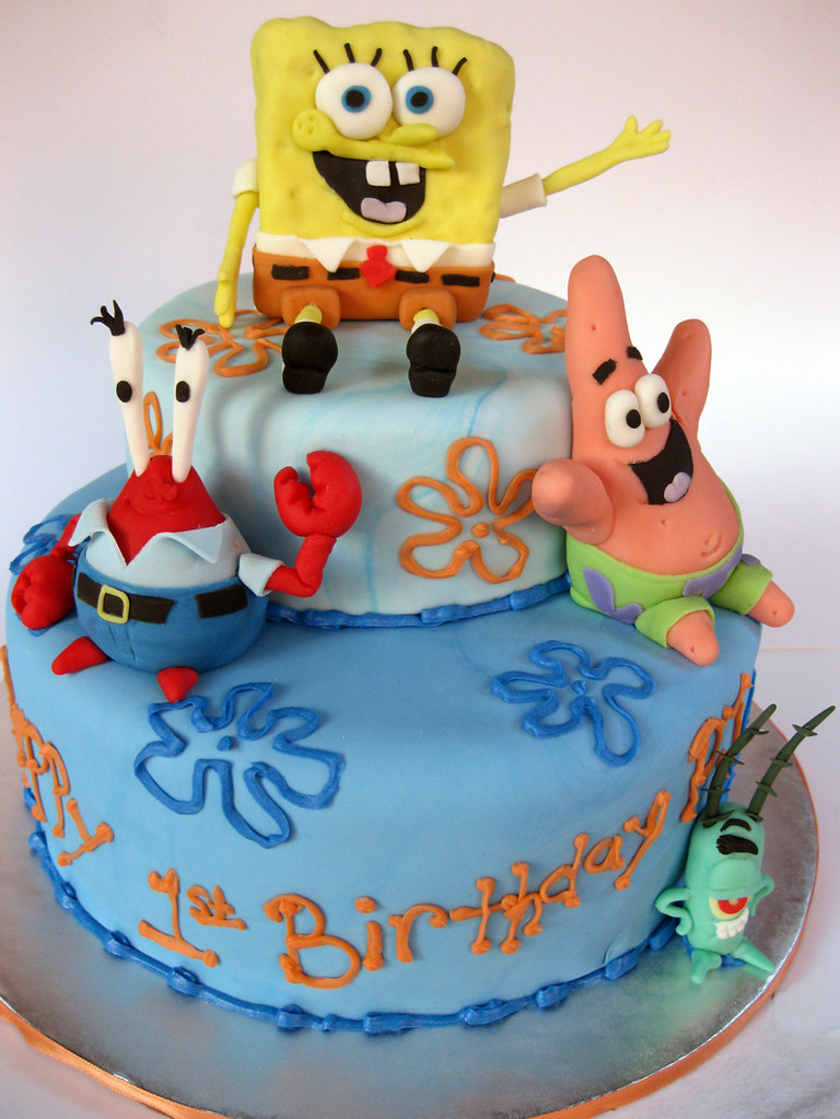 Spongebob Pirate Birthday Cake