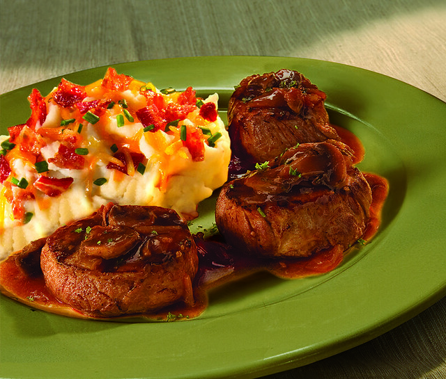 Filet Medallions with Mushroom Sauce