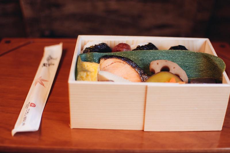 Bento box on the Shinkansen to Hiroshima