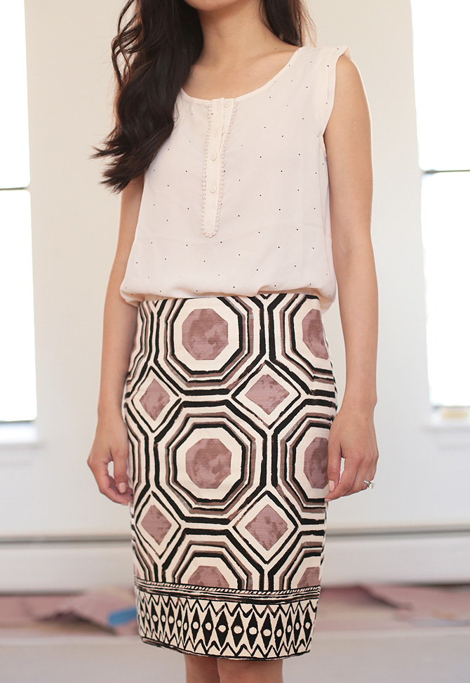 loft geo skirt1