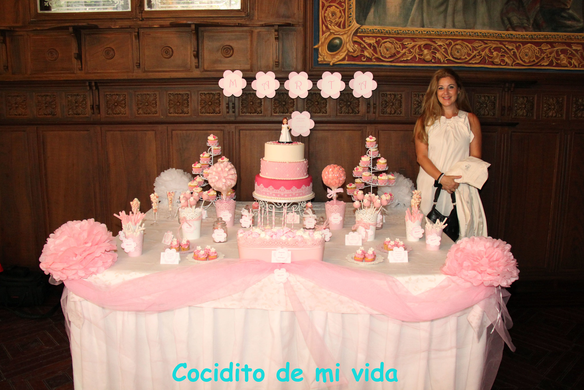 Cocidito de mi vida mesa dulce de comuni n para marta - Como decorar una comunion ...