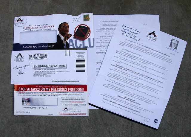 Alliance Defending Freedom junk mail