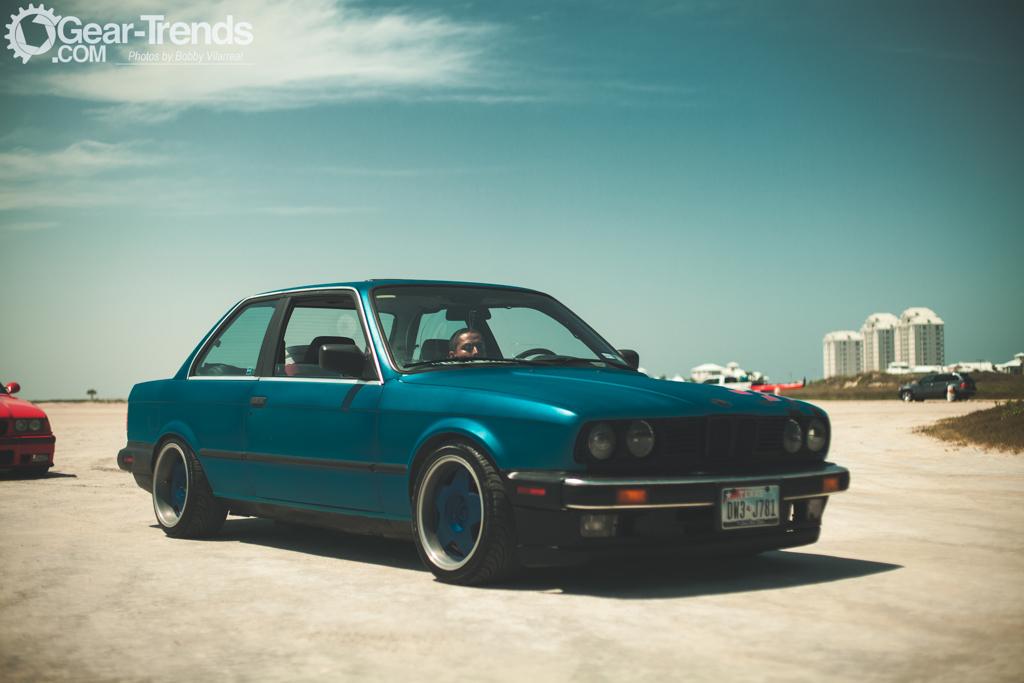 Blue BMW