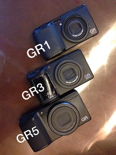 GR1、GR3、GR5