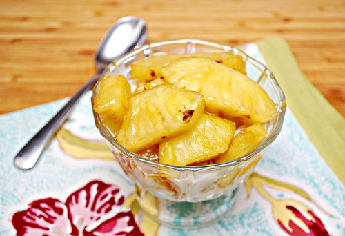 Caramelized Pineapple Sundaes