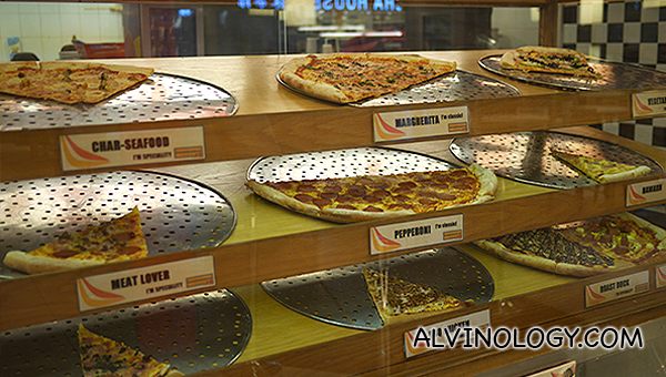 Pizza flavours available