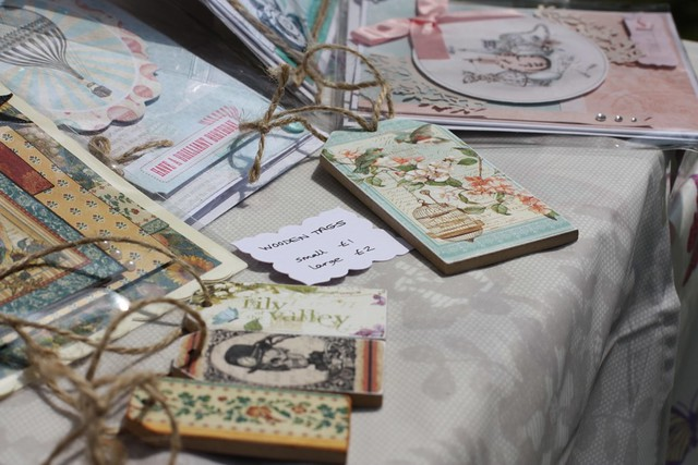 wooden decoupage tags