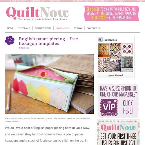 Get your hexie templates and check out a preview of my project for issue 1 of @quiltnow magazine! www.quiltnow.co.uk/