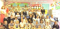 St. Mary's Killyclogher pupils and teachers