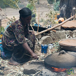 Cooking Injera (Ethiopian Flatbread) for Wedding - Lalibela, Ethiopia
