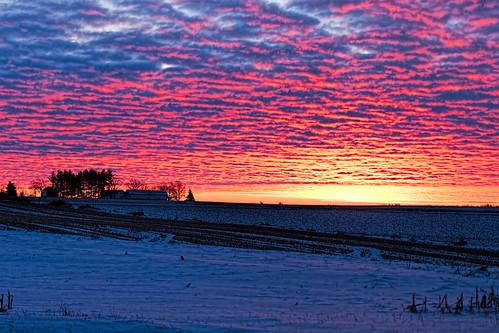 winter columbus snow wisconsin clouds sunrise unitedstates scenic ©jrj ccf2014