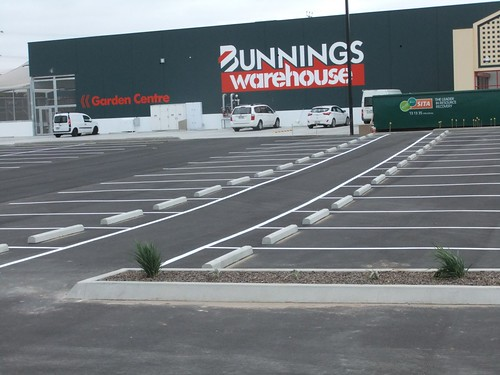 The construction of the Bunnings store in West Footscray (VIC) is forging ahead