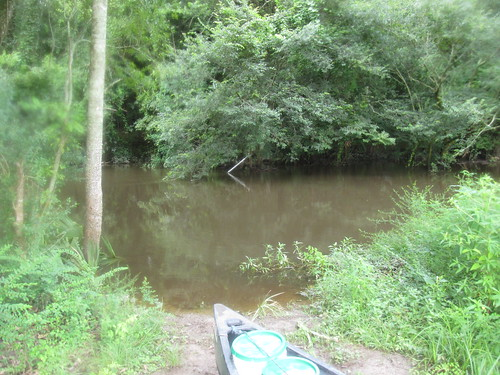 Archery Launch, very high water
