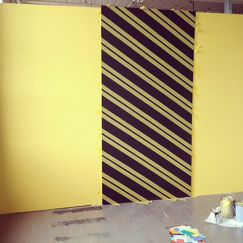 Obsessive-compulsive taping FTW. #studio #painting #stripes