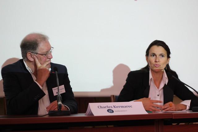 Charles Kermarec (leslibraires.fr) et Aurélie Filippetti