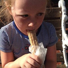 She was so good that she got #churros as a #treat. #lakecompounce