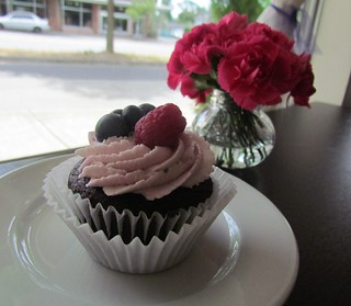 Chocolate Raspberry Cupcake at Violet Sweet Shoppe