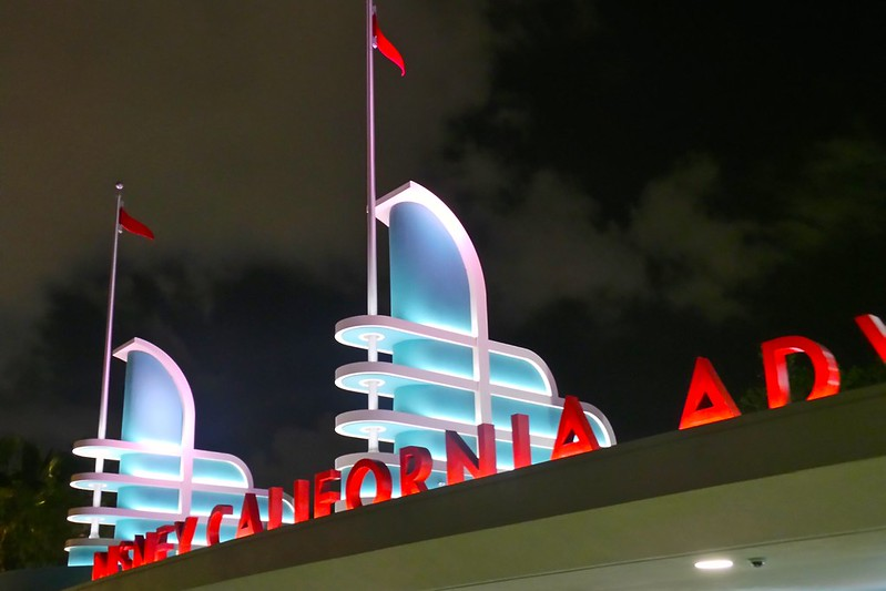 Disney California Adventure entrancement sign