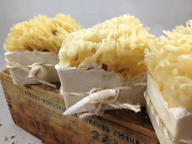 Sea sponge soaps by The Daily Scrub