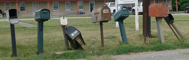 Image of the Week for 07-28-14: The Mailboxes Along US 421