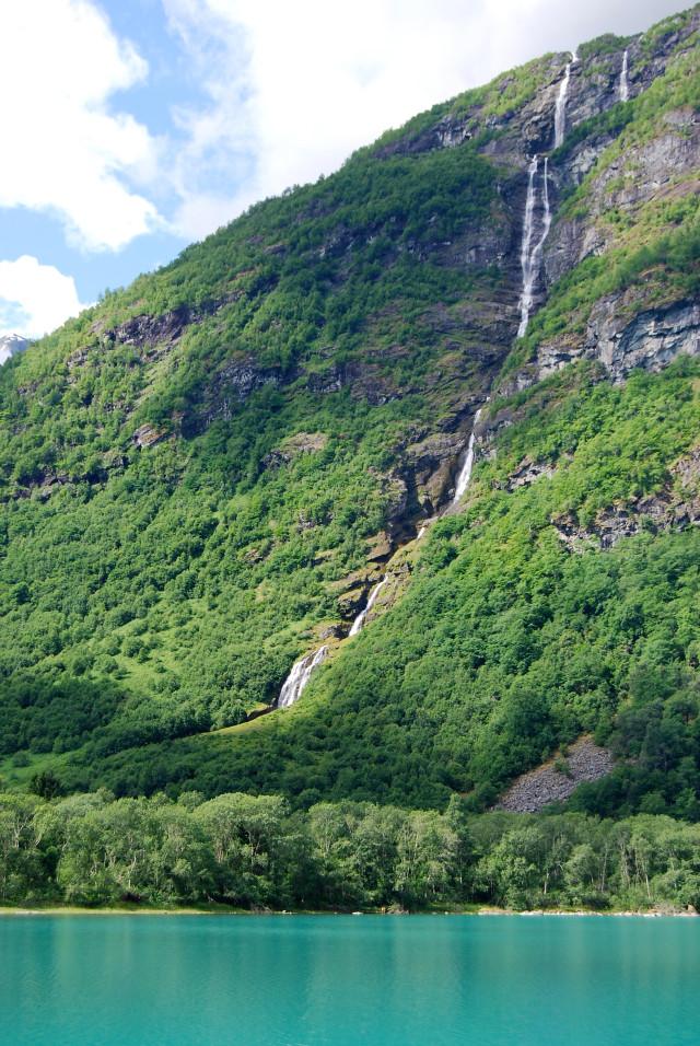 Olden Lake Waterfalls