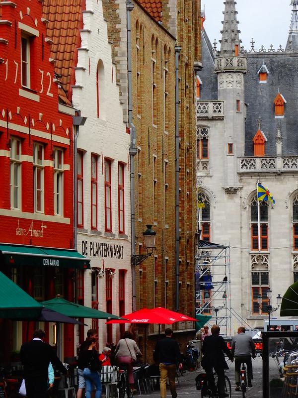 Building facades, Bruges