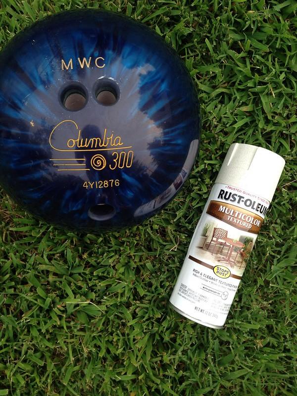 spray painting bowling balls