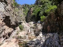 Au-dessus de la 2ème cascade du Niffru : partie finale du 2ème boyau rocheux