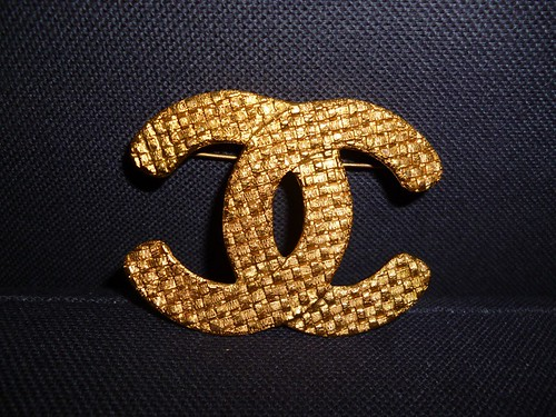 vintage chanel double c brooch