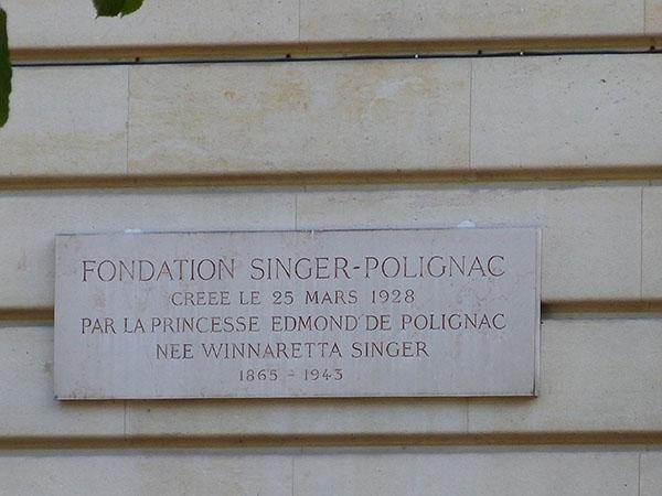 fondation singer polignac