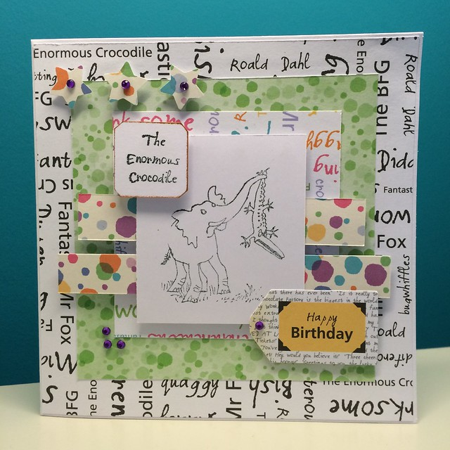 Roald Dahl cards - Enormous crocodile card