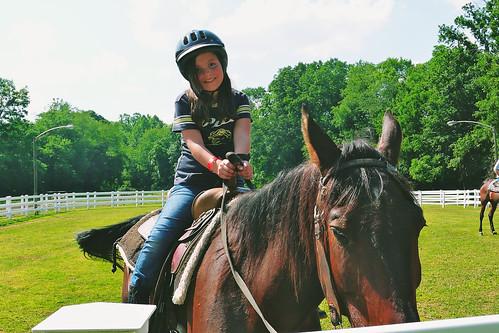Happy horse rider.