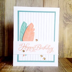 Happy Birthday - feather card