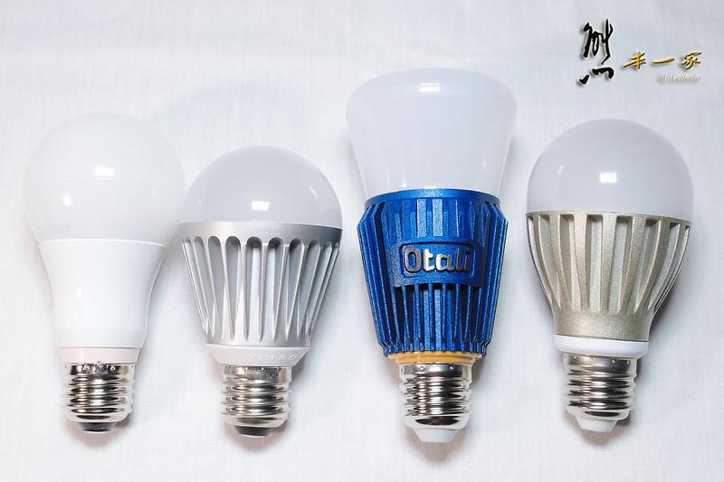 [LED燈泡演色性比較測試] 東芝高演色性LED燈泡|日月光|Otali|everlight