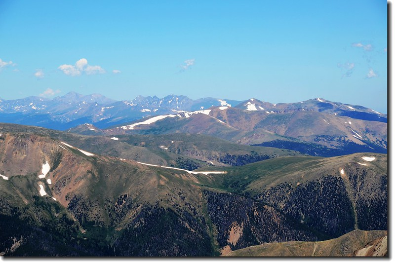 Looking north from the summit of Grays( Longs Peak & Indian Peaks in the distance) 1