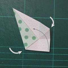 การพับกระดาษเป็นสัญลักษณ์ดาวแปดแฉกคู่ (Double Eight-Pointed Stars Origami) 003