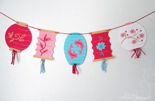 lantern banner with tassels!