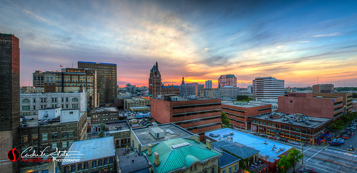 roof sunset orange rooftop wisconsin clouds canon twilight downtown cityscape place cityhall panoramic milwaukee hyatt wi hdr msoe mke jeffersonst photomatix juneautown discoverwisconsin travelwisconsin 5dmarkiii bmoharris