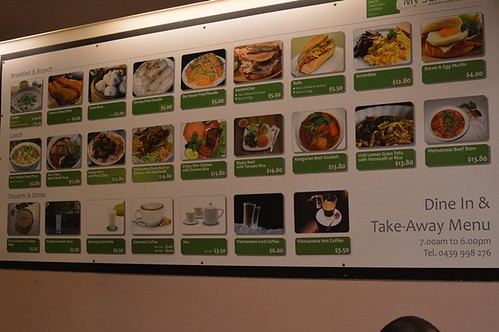 My Selection Cafe: Menu