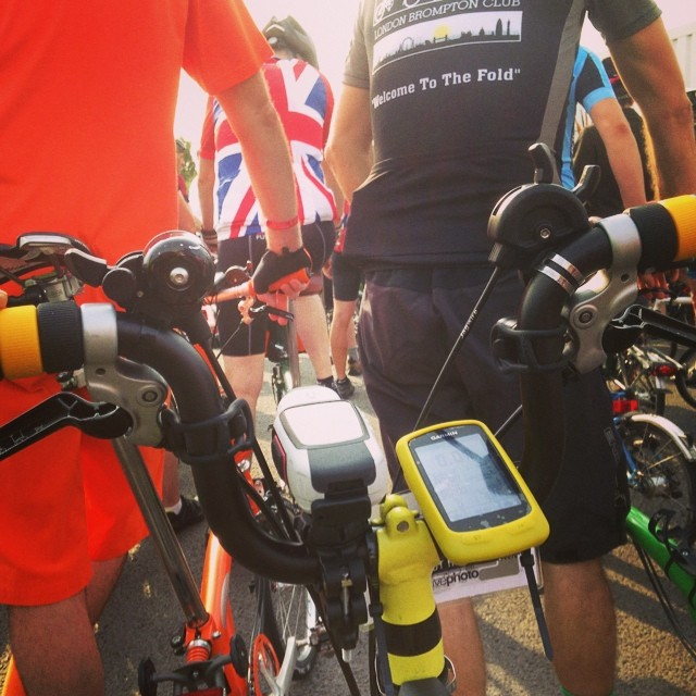Heading to the sprint #bwc2014 #bromptonbicycle #brompton