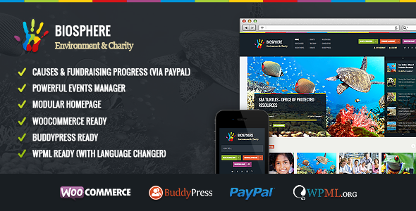 Biosphere v1.1.3 – Environmental & Charity WP Theme