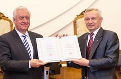 Михаил Мясникович стал «Почетным профессором БГУ»