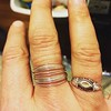 My new awesome ring from @go_rings that I got in Waco, TX as a birthday present to me. I am sure I'll be getting more. I just love it. The woman who sold it to me (the owner?) was amazing, too. (It's the ring in the middle.) While I was clueless about #sp