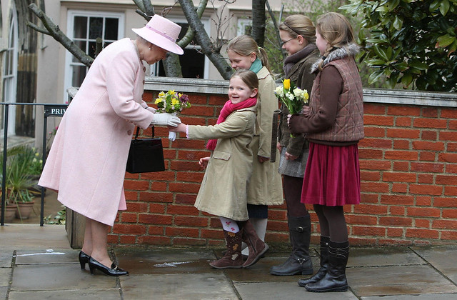 Queen Elizabeth II at St George's Chapel on Easter Day (2008) © PA