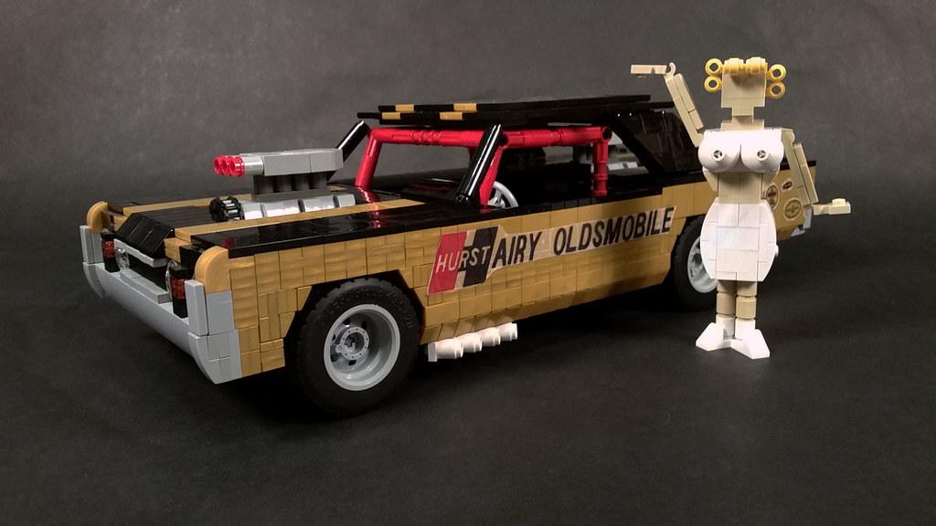 """'67 Hurst """"Hairy"""" Oldsmobile (custom built Lego model)"""
