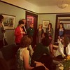 8:36pm was listening to women (and one man) talk about how more women need to run for office. Yep.