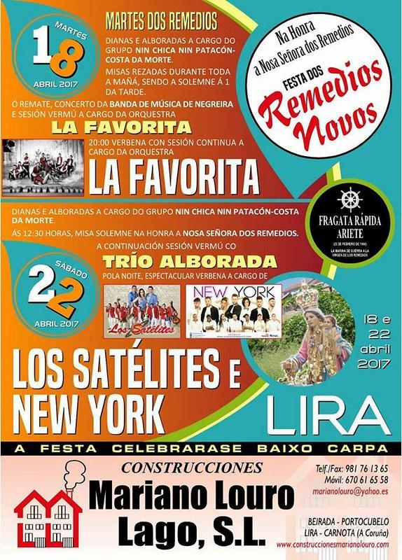 Carnota 2017 - Festa dos Remedios Novos en Lira - cartel