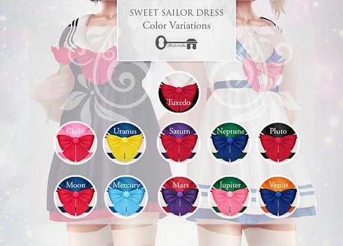 Sweet Sailor Dress - Color Variations