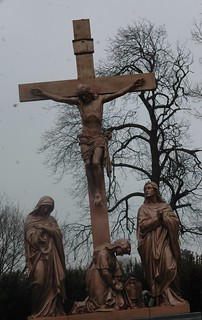 The leaning cross of Calvary.